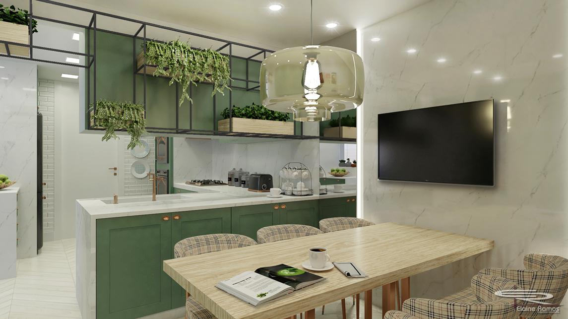 Cozinha Gourmet em apartamento Chopin, Copacabana - RJ